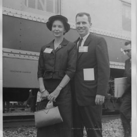 William and Elise Winter going to the 1956 democratic convention