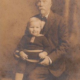 3 Year Old William with grandfather WB Winter