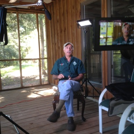 Interview setup for Salem Saloom at his farm in Evergreen, Alabama