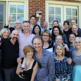 Rex Jones, Jimbeau Hinson, Brenda Fielder, and various and sundry music people @ pre-party for the Nashville Film Festival, 2014