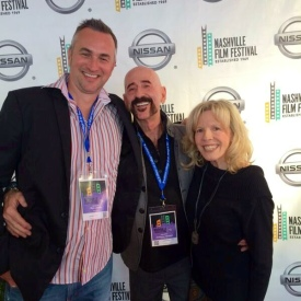 Rex Jones,  Jimbeau Hinson, & Brenda Fielder on the red carpet @ the Nashville Film Festival, 2014