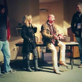 Matthew Graves, Brenda Fielder, Jimbeau Hinson, & Rex Jones @ the Oxford Film Festival, 2014